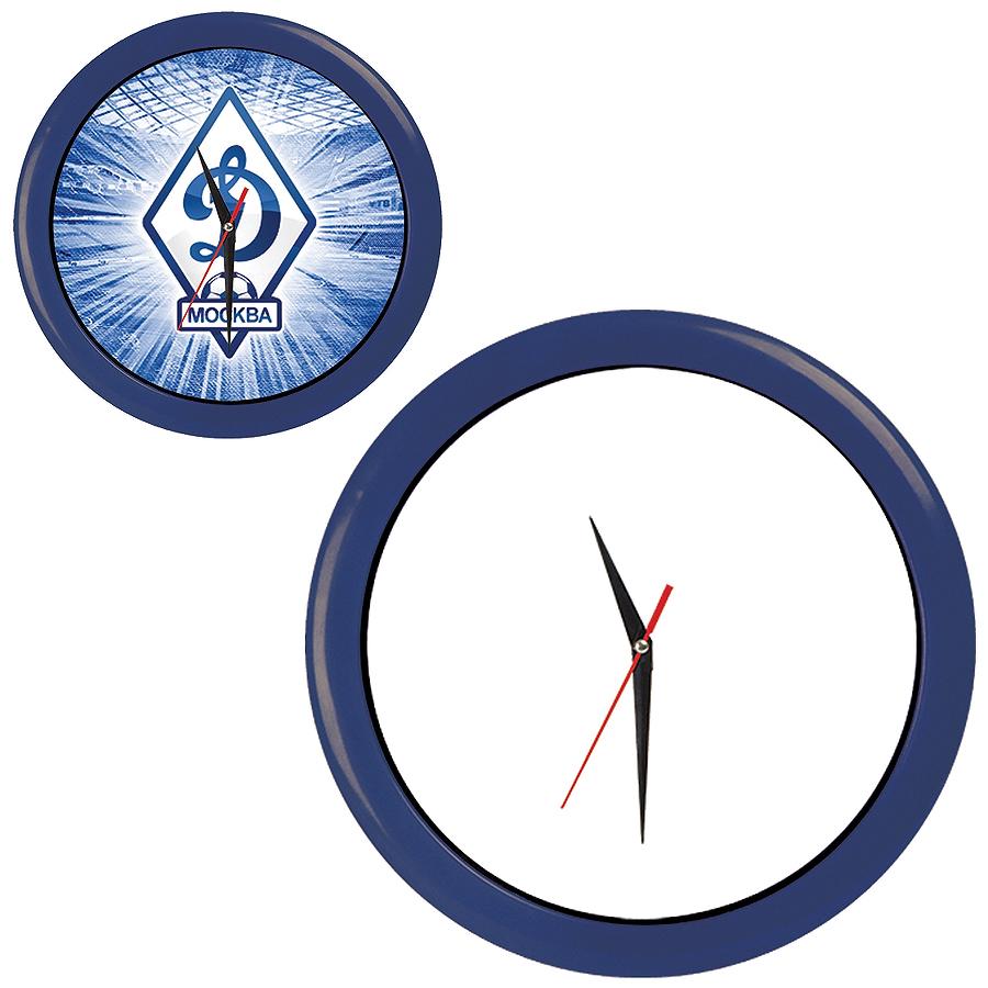 """Часы настенные """"ПРОМО"""" разборные ; синий, D28,5 см; пластик/стекло"""