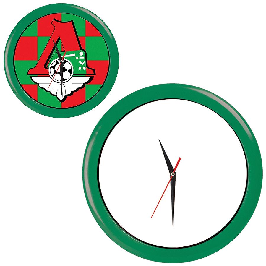 """Часы настенные """"ПРОМО"""" разборные ; зеленый,  D28,5 см; пластик/стекло"""