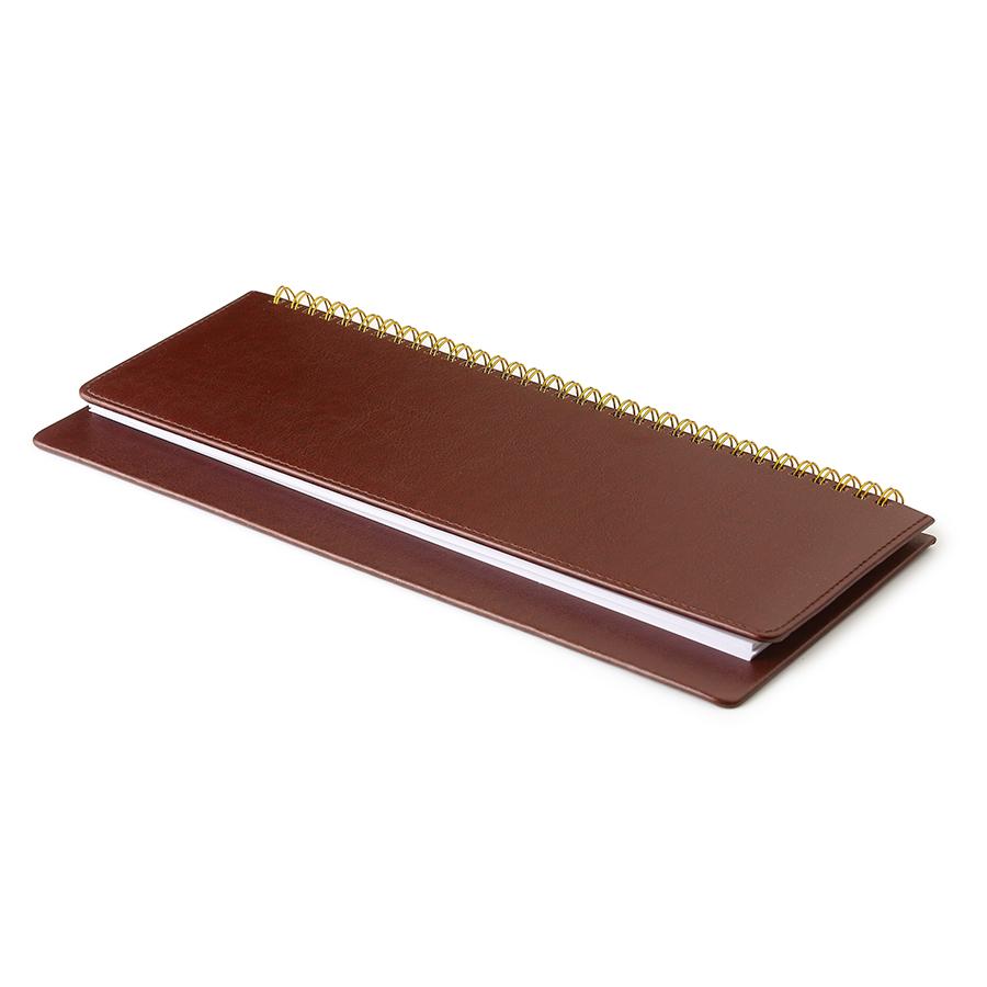 Планинг недатированный, Sidney Nebraska, коричневый, 305х130 мм, белый блок, открытый гребень