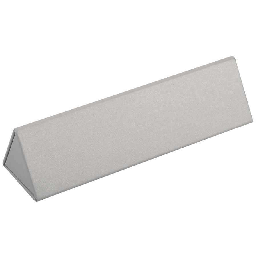 Футляр для одной ручки, серебристый, картон/дизайнерская бумага