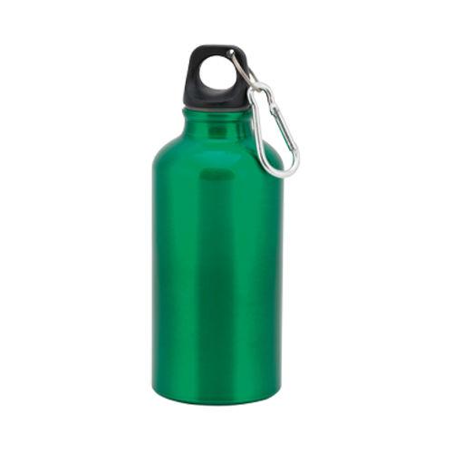 """Бутылка для воды """"Mento"""", алюминиевая, с карабином, 400 мл., зеленый"""